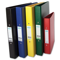 Elba A4 Ring Binder Heavyweight PVC 2 O-Ring Size 25mmBlue Ref 400001508 - Pack 10