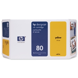 Hewlett Packard HP No. 80 Yellow 350ml Inkjet CartridgeRef C4848AE