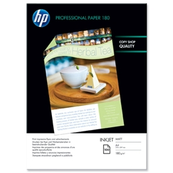Hewlett Packard HP Superior Inkjet Paper Matt 180gsm A4 Ref Q6592A - 100 Sheets