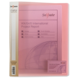 Snopake Superline Ring Binder Polypropylene 2 O-Ring 25mm Size A4 Red Ref 10181 - Pack 10