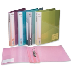 Snopake Superline Ring Binder Polypropylene 2 O-Ring 25mm Size A4 Assorted Ref 10184 - Pack 10 - Item image