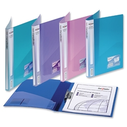 Snopake Electra Clamp Binder Polypropylene for 100 Sheets 80gsm A4 Assorted Ref 12790 - Pack 10