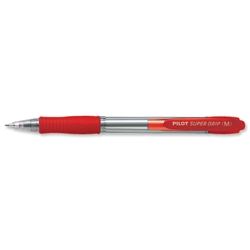 Pilot Super Grip Red Retractable Ball Pen Ref BPGP10RM02 - Pack 12 - Item image