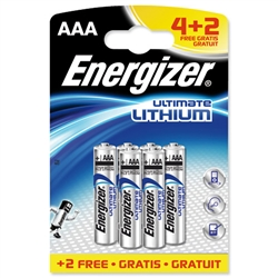 Energizer Ultimate Battery Lithium LR03 1.5V AAA - Pack 4 and 2 FREE - Item image