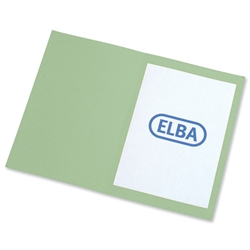 Elba Square Cut Folder Recycled Mediumweight 250gsm Foolscap Green Ref 100090210 - Pack 100 - Item image