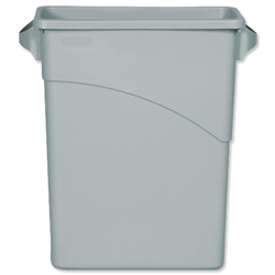 Rubbermaid Slim Jim Recycling Container Bin 60 Litres Grey Ref 3541-00-GRY