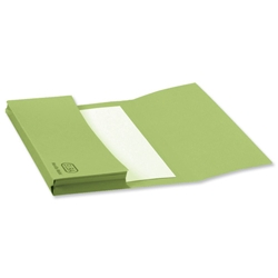 Elba Document Wallet Half Flap 310gsm Capacity 30mm Foolscap Green Ref 100090127 [Pack 50]