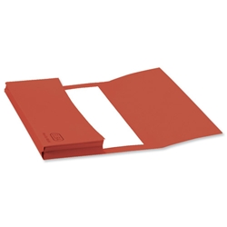 Elba Document Wallet Half Flap 310gsm Capacity 30mm Foolscap Red Ref 100090243 [Pack 50]