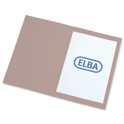 Elba Square Cut Folder Recycled Heavyweight 310gsm Foolscap Buff Ref 100090216 [Pack 100]