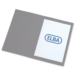 Elba Square Cut Folder Recycled Heavyweight 310gsm Foolscap Grey Ref 100090219 [Pack 100]