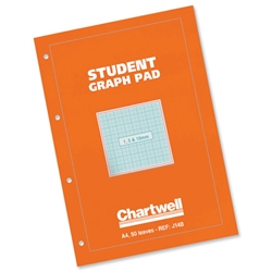 Chartwell Student Graph Pad A4 Orange Cover Ref J14BZ - Pack 10