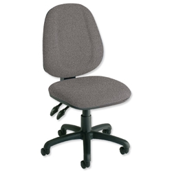 Trexus Plus High Back Chair Permanent Contact W460xD450xH460-590mm Backrest H510mm Grey - Item image