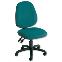 Trexus Plus High Back Chair Permanent Contact W460xD450xH460-590mm Backrest H510mm Green - Item image