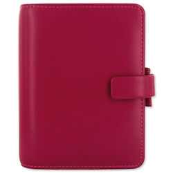 Filofax Metropol Pocket Personal Organiser Leather-look Grain Effect PU Raspberry Ref 026942 - Item image