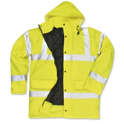 High Visibility Coat Polyester with Waterproof Coating Extra Large Yellow