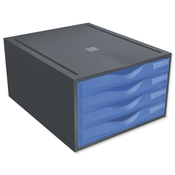 Mutiform Polymorf Drawer Set A4plus Blue Ref 200210D