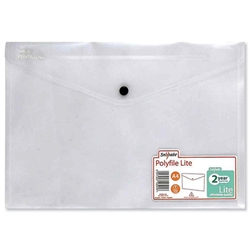 Snopake Polyfile Lite Wallet File Polypropylene Durable A4 Clear Ref 15412 [Pack 5]