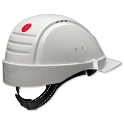 3M G2000 Solaris Safety Helmet Ventilation Peltor Uvicator Neck Protection White Ref G2000CUV-VI