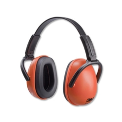 3M 1436 Ear Muffs 28dB Noise Reduction Orange Ref 1436