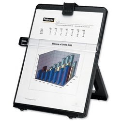 Fellowes Workstation Copyholder Easel Capacity 10mm with Line Guide A4 Black Ref 21106