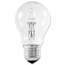 Light Bulb Energy Saving GLS Halogen Screw Fitting 77W Clear