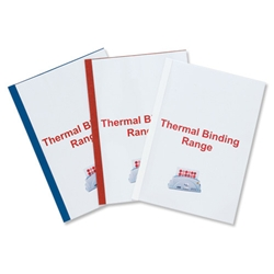 Ibico Thermal Binding Covers 3mm Front PVC Clear Back Gloss A4 White Ref IB370021 - Pack 100