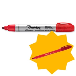 Sharpie Metal Permanent Marker Bullet Tip Black Ref S0945720 [Pack 12] [FREE Red Pens] - Item image