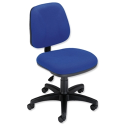 Trexus Intro Operators Chair Fixed Medium Back H390mm Seat W490xD450xH430-540mm Royal Blue