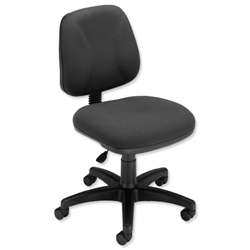 Trexus Intro Operators Chair Fixed Medium Back H390mm Seat W490xD450xH430-540mm Charcoal