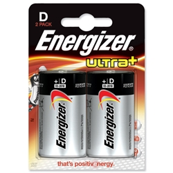 Energizer UltraPlus Battery Alkaline LR20 1.5V D Ref 624682 - Pack 2