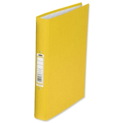Concord Classic Ring Binder 2 O-Ring Capacity 25mm A4 Yellow Ref C82107 - Pack 10 - Item image