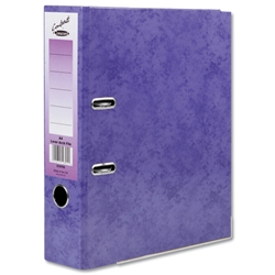 Concord Contrast Lever Arch File Laminated Capacity 65mm A4 Purple Ref 214705 - Pack 10
