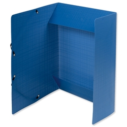 Exacompta Forever A4 3-Flap Folder Recycled Polypropylene Elasticated Blue Ref 551572E - Pack 15 - Item image