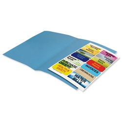 Elba Fusion Square Cut Folder Recycled Manilla Heavyweight 380gsm Foolscap Blue Ref 100090229 - Pack 25 - Item image
