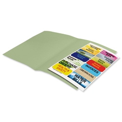 Elba Fusion Square Cut Folder Recycled Manilla Heavyweight 380gsm Foolscap Green Ref 100090230 - Pack 25 - Item image