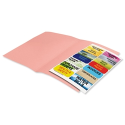 Elba Fusion Square Cut Folder Recycled Manilla Heavyweight 380gsm Foolscap Pink Ref 100090231 - Pack 25 - Item image