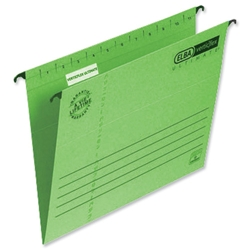 Elba Verticflex Ultimate Suspension File Manilla 240gsm Foolscap Green Ref 100331170 - Pack 25