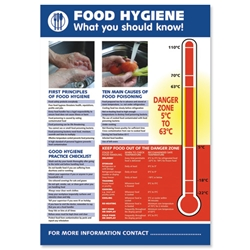 Stewart Superior Food Hygiene Laminated Guidance Poster W420xH595mm Ref HS107