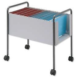 Suspension Filing Trolley for 100 Foolscap Suspension Files Steel