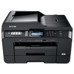 Brother Colour Inkjet Multifunction Printer Duplex Network WiFi 10ppm 6000dpi A3 Ref MFCJ6910DWU1
