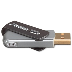 Imation Swivel Flash Drive with Lanyard USB 2.0 Password-protection for MacOS9 or Windows 8GB Ref i25589 - Item image