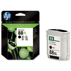 Hewlett Packard HP No. 88 XL Black Inkjet Print Cartridge 58.5ml Ref C9396AE