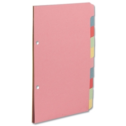 Concord Subject Dividers 160gsm 10-Part A5 Ref 72199/J21 [Pack 10]