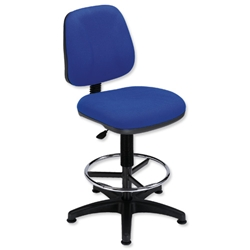 Trexus Intro Medium Back High Rise Chair Seat W490xD450xH650-780mm Back H390mm Royal Blue