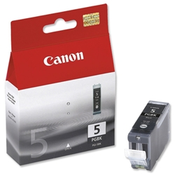 Canon PGI-5BK Black Inkjet Cartridge Ref 0628B025 - Pack 2