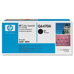 Hewlett Packard HP No. 501A Black Print Toner Cartridge for Color LaserJet 3600 Ref Q6470A