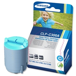 Samsung CLP-C300A Cyan Laser Toner Cartridge for CLP-300 Series Printer Ref CLP-C300A-ELS