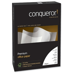 Conqueror Prestige A4 Brilliant White 100gsm Laid Finish Paper Ref 88525 - 500 Sheets