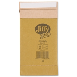 Jiffy Padkraft No.00 Padded Bag Envelopes 107x235mm Ref JPB-00 - Pack 200