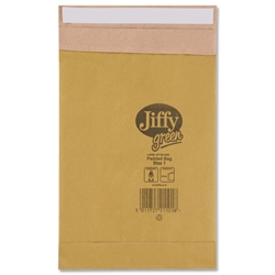 Jiffy Padkraft No.1 Padded Bag Envelopes 164x285mm Ref JPB-1 - Pack 100